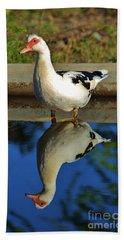 Duck Twice Bath Towel by Craig Wood