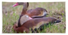 Black-bellied Whistling Ducks Bath Towel