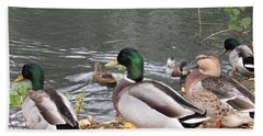 Ducks By The Pond Bath Towel