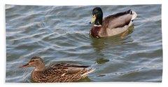 Ducks By The River Bath Towel