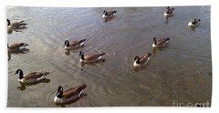 Ducks On The Occoquan River Bath Towel