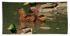 Ducks Race Bath Towel by Kim Tran