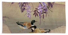 Ducks Under Wisteria Tree Hand Towel