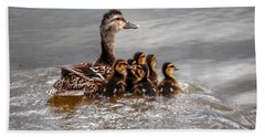 Hand Towel featuring the photograph Ducky Daycare by Sumoflam Photography