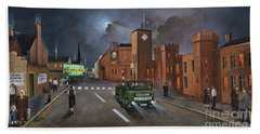 Hand Towel featuring the painting Dudley, Capital Of The Black Country by Ken Wood
