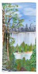 Dueling Lakes Hand Towel