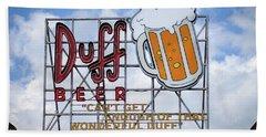 Duff Beer Sign Bath Towel by Wade Brooks