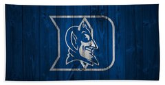 Duke Blue Devils Barn Door Bath Towel by Dan Sproul