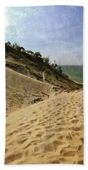 Bath Towel featuring the photograph Dune And Blue Sky 2.0 by Michelle Calkins