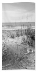 Dune - Black And White Hand Towel by Angela Rath