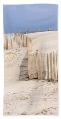 Dune Fence Portrait Bath Towel