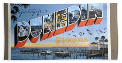 Dunedin Florida Post Card Bath Towel
