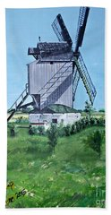 Dunkerque Windmill North Of France Hand Towel by Francine Heykoop