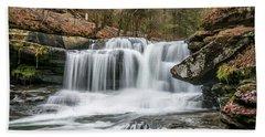 Dunloup Creek Falls Bath Towel