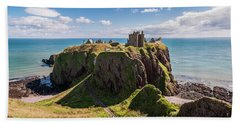 Hand Towel featuring the photograph Dunnotar Castle by Sergey Simanovsky