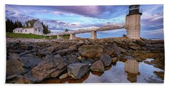 Bath Towel featuring the photograph Dusk At Marshall Point by Rick Berk
