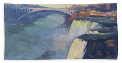Dusk At Niagara Falls Bath Towel