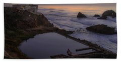 Dusk At Sutro Baths Hand Towel