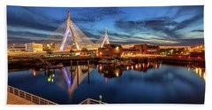 Dusk At The Zakim Bridge Hand Towel