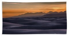 Dusk At White Sands Bath Towel