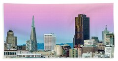 Hand Towel featuring the photograph Dusk In San Francisco by Bill Gallagher