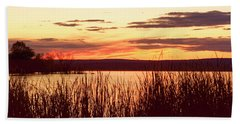 dusk on Lake Superior Bath Towel
