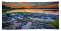 Hand Towel featuring the photograph Dusk On Littlejohn Island by Rick Berk