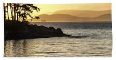 Dusk On Sucia Island Hand Towel