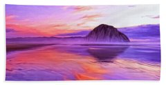 Dusk On The Morro Strand Hand Towel