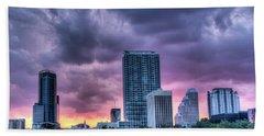 Dusky Downtown Orlando, Florida Bath Towel