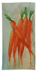 Dutch Carrots Hand Towel by Jane See