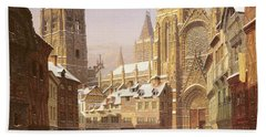 Dutch Cathedral Town Hand Towel