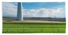 Bath Towel featuring the photograph Dutch Landscape With Windmill by Hans Engbers