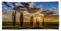Dutch Moutains At Sunset Bath Towel