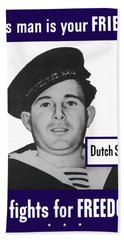 Dutch Sailor This Man Is Your Friend Hand Towel