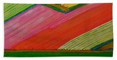 Dutch Tulip Fields Bath Towel