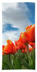 Dutch Tulips Near Keukenhof Bath Towel
