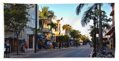 Duval Street In Key West Hand Towel