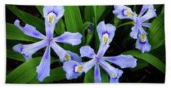Dwarf Crested Iris Bath Towel