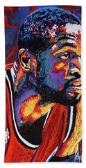 Dwyane Wade 3 Bath Towel by Maria Arango