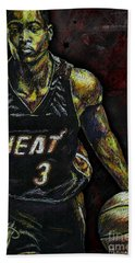 Dwyane Wade Bath Towel by Maria Arango