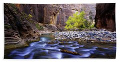 Bath Towel featuring the photograph Dynamic Zion by Chad Dutson