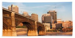 Eads Bridge At St Louis Bath Towel by Semmick Photo