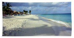 Bath Towel featuring the photograph Eagle Beach Aruba by Suzanne Stout