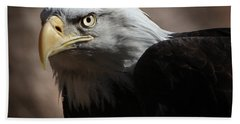 Hand Towel featuring the photograph Eagle Eyed by Marie Leslie