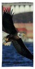 Eagle Flying Hand Towel