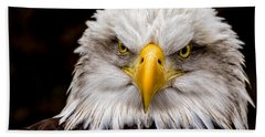 Defiant And Resolute - Bald Eagle Hand Towel