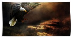 Eagle Is Landing Bath Towel