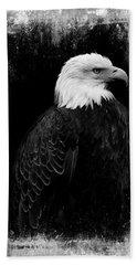 Eagle Bath Towel by Martina Fagan