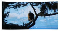 Eagle - Mt Baker - Eagles Nest Hand Towel